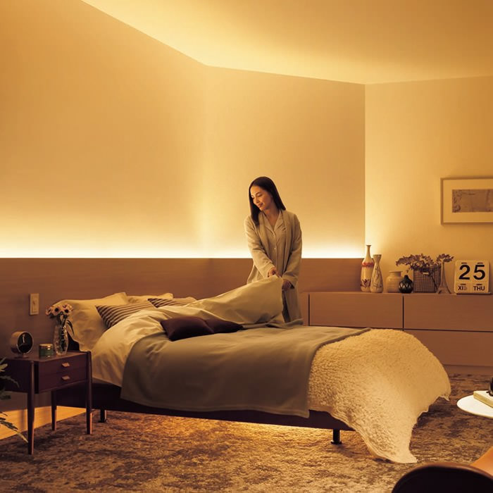 【写真で紹介】照明で寝室を癒しの空間に!生活の質を上げる寝室照明13選
