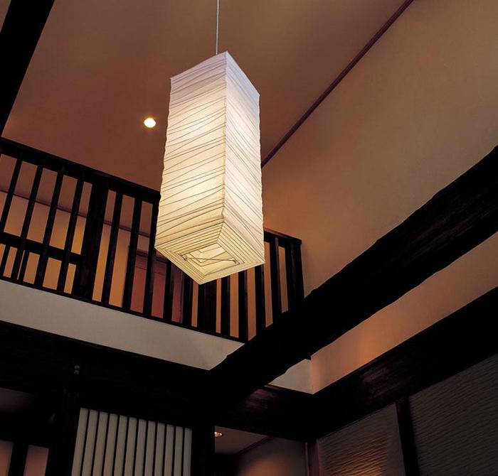 和紙のインテリアは照明でガラリと変わる