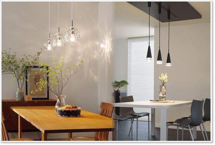 LED電球がセットになった省エネ長寿命のLEDペンダントライト。ダクトレール取付け専用です