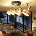 6畳まで対応 リモコン式ウッドシーリングライト