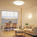 ホワイトアンティーク家具を思わせるペンダントランプ