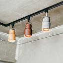 木調塗装のナチュラル系LEDスポットライト