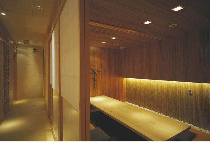 傾斜面に対応、白木枠和風LEDダウンライト (傾斜天井)