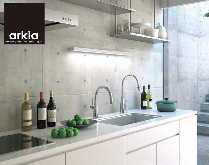 棚下・壁付兼用タイプ 幅916mmのキッチンライト (キッチン)