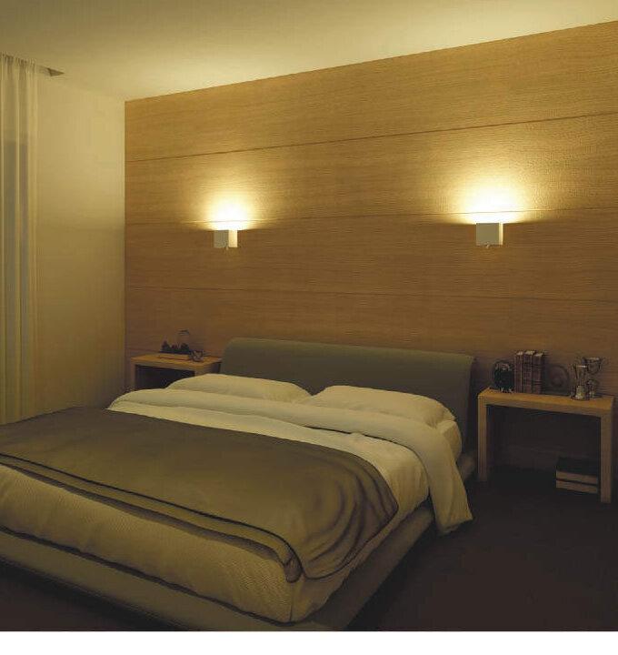 寝室におすすめ、上下光切替ブラケット (間接照明)