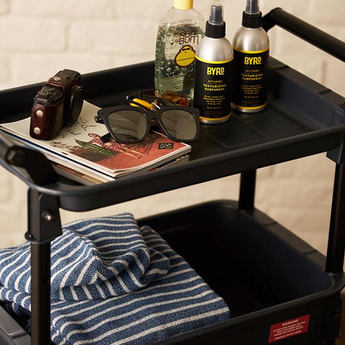 HEAVY-DUTY tray-shelf cart | クリーム