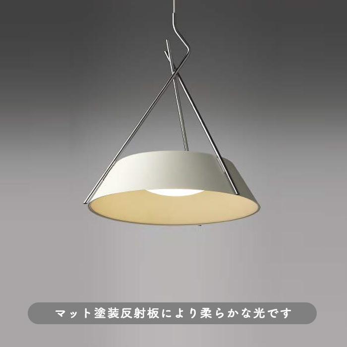 *Frame ペンダントライト・180W相当・電球色 | ホワイト/クロームフレーム