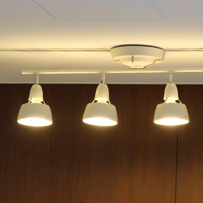 おしゃれなシーリングスポットライト リモコン付 〜12畳・LED対応 | ホワイト