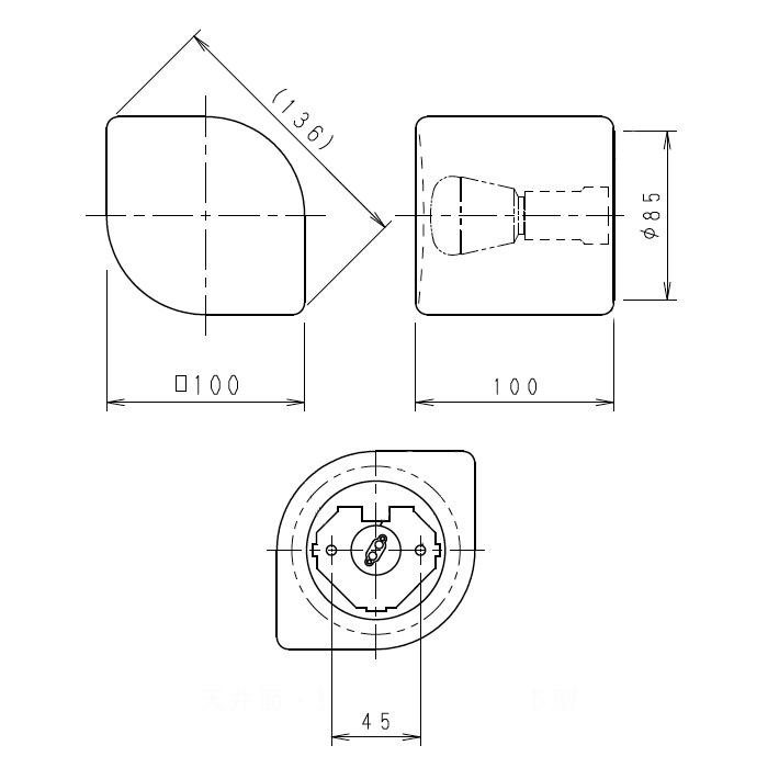 おしゃれなリーフ形ブラケットライト 40W相当形 | Sサイズ