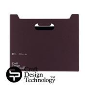クラフトデザインテクノロジーのボックスファイル横型・ダークブラウン