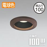 民芸塗 LED<br>ダウンライト<br>Φ100 100W相当<br>調光対応