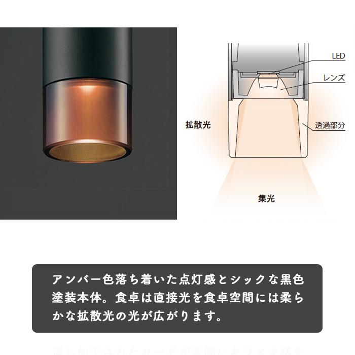 調光対応 LEDペンダントダクトレール用ブラック・60W相当