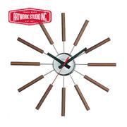 アートワークスタジオ 壁掛時計 ブラウン(ウォールナット)