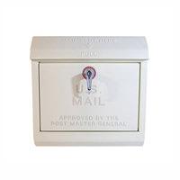 クリーム色のユーエス メールボックス(U,S, Mail box) アートワークスタジオ