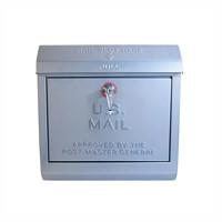 メールボックス シルバーのポスト U,S, Mail box アートワークスタジオ