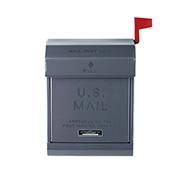 U.S.mail box 2 おしゃれポスト アートワークスタジオ TK-2078DGY